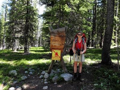 We arrive at the wilderness boundary (Cloud Peak Wilderness).