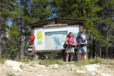 Our hike begins at the West Tensleep trailhead.