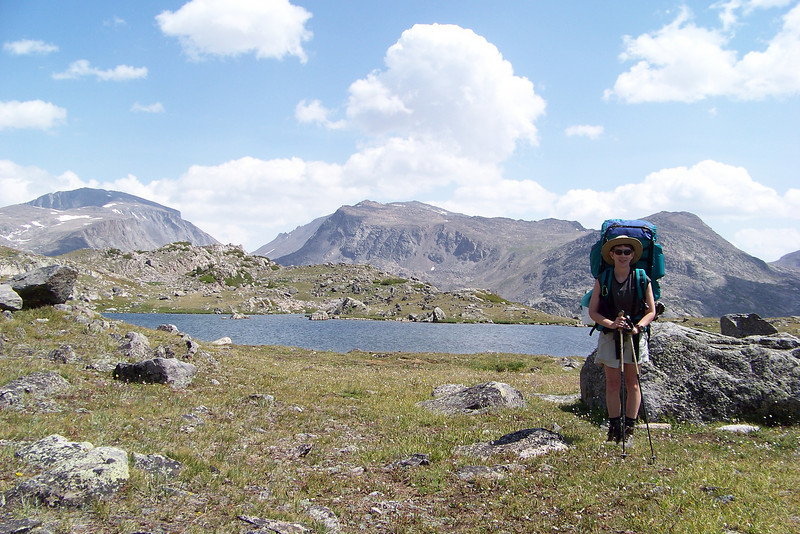 We've finally reached the highest point of our climb, at this beautiful unnamed lake. Time for lunch!