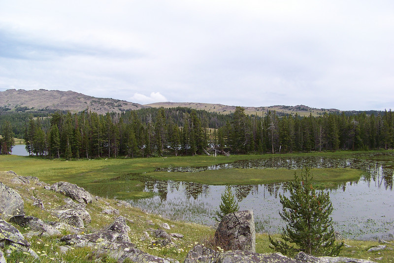 Finally we arrive at the Northwest side of Lily Lake.
