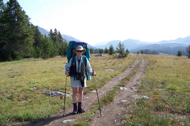 Our route briefly leaves the Wilderness area and joins an ATV trail for a short distance.