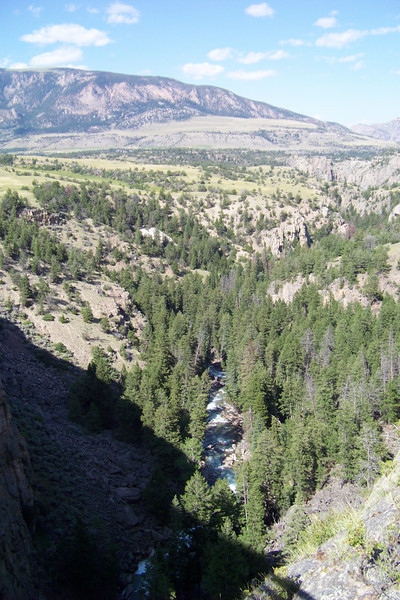 The view from Sunlight Bridge. All along the highway there are pullouts with interpretive signs about the legendary flight of the Nez Perce, led by Chief Joseph, from the US Army.