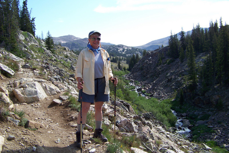 Our hike takes us up and down over glacial moraine toward our ultimate destination -- the Lost Twin Lakes.