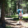 The first part of the trail is deceptively easy; flat with soft pine-needle ground.