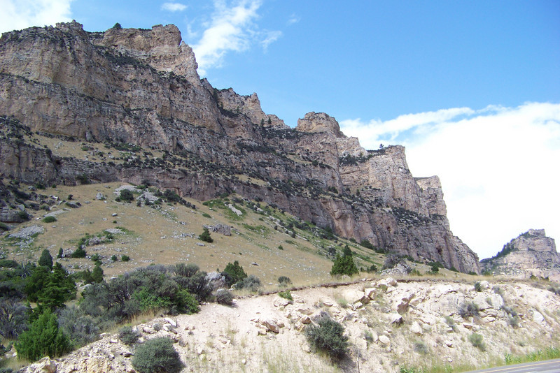Sunday, August 2nd: We drive from Cody to the Bighorn National Forest. Badlands, grass/ranchlands, and agricultural land dominate the landscape until we enter Tensleep Canyon on our way into the mountains.