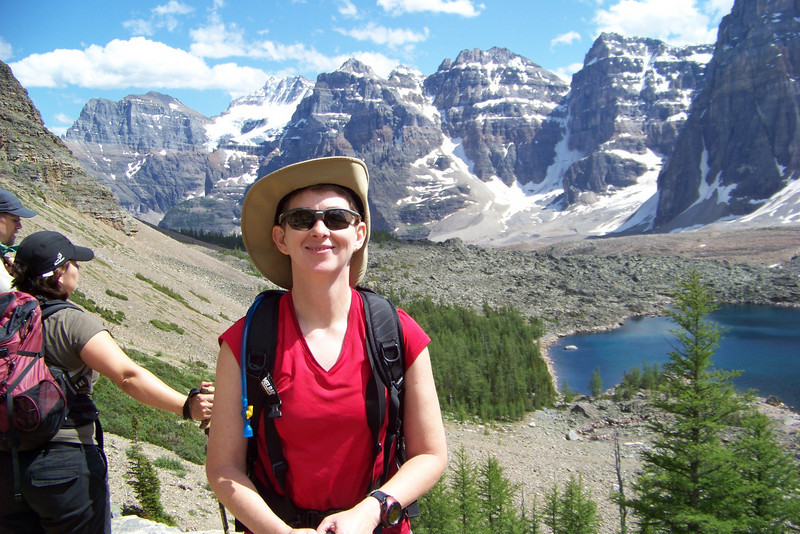 Did I already mention that Patti loves sunshine?  Eiffel Lake and the Valley of the Ten Peaks are not a bad place to enjoy it, either.