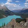 Peyto Lake from the high, rocky overlook