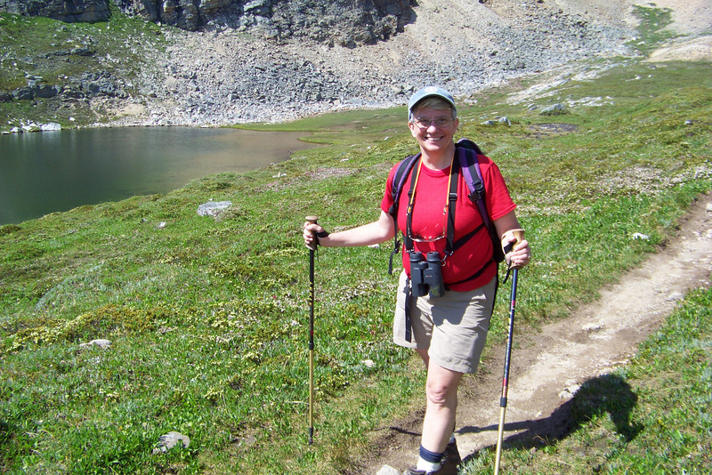Jeane at Helen Lake, where Joel will give us a lesson on how Bog Laurel catapults its pollen when spring-loaded stamens are tripped by insects (or meddling humans).