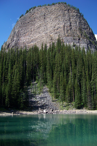 Our trail takes us first to Mirror Lake, with the Big Beehive towering over it.
