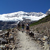 We begin a series of long switchbacks to take us higher as we proceed toward the Plain of Six Glaciers Teahouse.