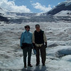 Our driver, Sami, takes our picture on the icefall of the Athabasca Glacier.