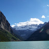 Lake Louise with the Victoria Glacier as its backdrop