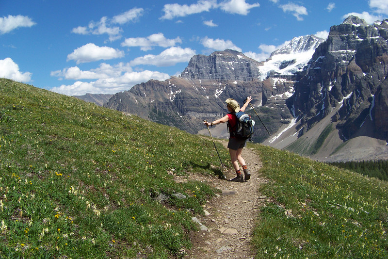 """""""The hills are alive with the sound of music""""...alpine meadows have this effect on Patti"""