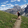 """The hills are alive with the sound of music""...alpine meadows have this effect on Patti"