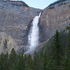 Takakkaw Falls is the second highest waterfall in Western Canada, according to our guidebook.