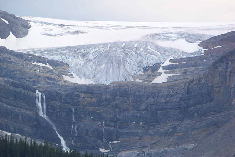 Bow Glacier and its waterfall