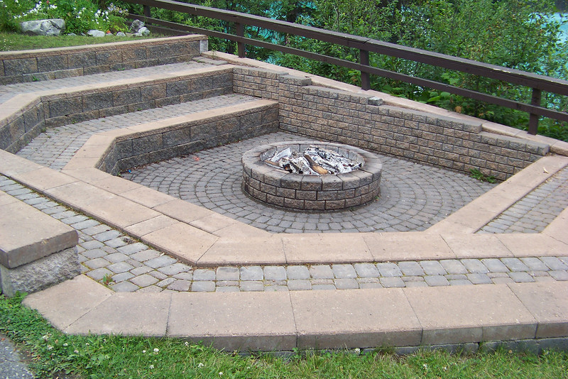 """This is the """"fire pit"""" at Emerald Lake Lodge; they keep the fire going so guests can warm up while enjoying a view of the lake."""
