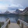 Bow Lake and Crowfoot Glacier