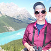 Jeane at the Peyto Lake overlook