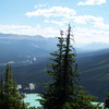 Lake Louise from Little Beehive and the wide Bow Valley heading off to the East.