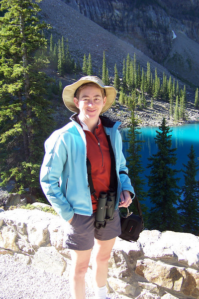 Patti is grateful for the sun, and looking forward to more of it!  Moraine Lake