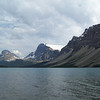 The clouds move in for the first time during our week in the Canadian Rockies.  We take a few shots of Bow Lake before heading back to the lodge to get ready for dinner.
