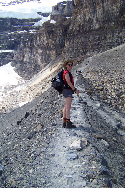 We're pretty sure we've not ever hiked on the knife edge of a lateral moraine before.
