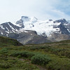 The Columbia Icefield is visible from the Wilcox Pass trail.
