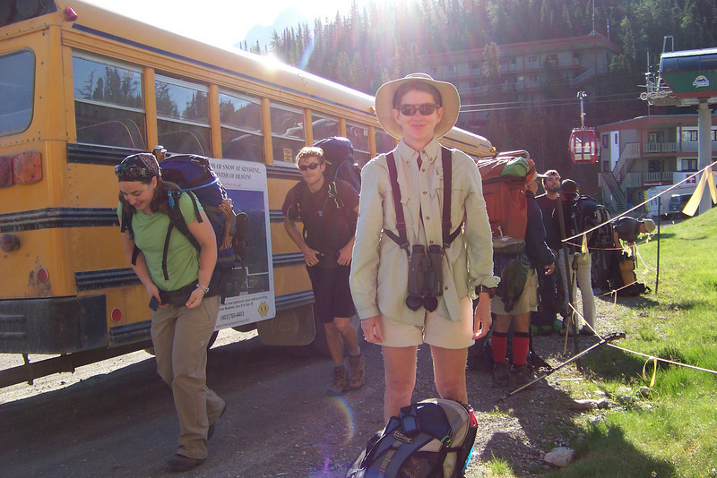 Day 9: July 31 -- for our last hiking day in the Canadian Rockies, we take the first shuttle up to the Sunshine Village ski area where we'll hike through flower-laden meadows.