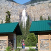 The number of tourists visiting Takakkaw Falls requires an indutrial-sized latrine complex!