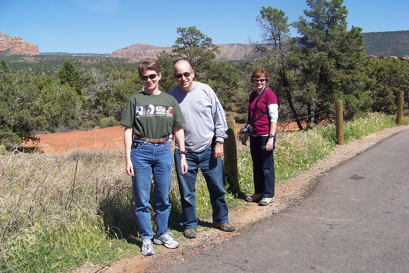 We enjoy stretching our legs in the hot Arizona sunshine in Sedona.