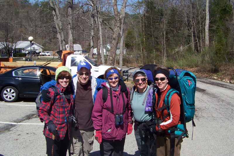 We embark on our first group training hike in the Jefferson Memorial Forest.  It's a wintry day even though it's late March.  We'll hike the Siltstone Trail, which climbs up and down the Knobs.  March 27, 2011