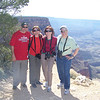 The gang poses at Lipan Point.