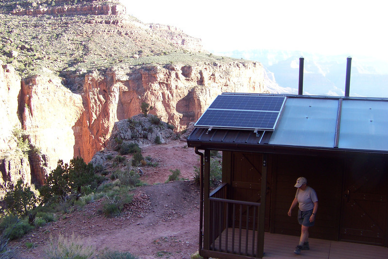 The Three-Mile Resthouse is also equipped with the usual luxurious, solar-powered composting latrine.