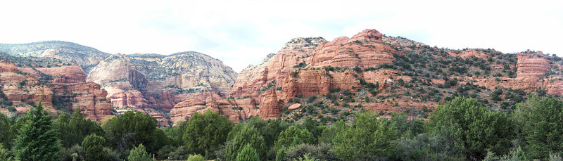 A panorama from the Fay Canyon trailhead.