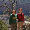 Laura and Linda pose at Grandview Overlook; thanks go to Lane for the photographic contribution.