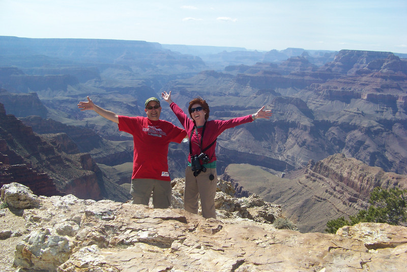 Linda and Lane LOVE the Grand Canyon!  Lipan Point
