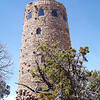 We proceed to the Desert View Watchtower, an historic landmark designed by Mary Colter, meant to mimic an Anasazi tower.  It's really attractive, and blends in nicely with the surrounding desert.