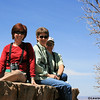 Laura took this photo of the three of us resting our feet at the Grandview Overlook...thinking about tomorrow's hike!