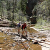 This is one of the 13 stream crossings advertised in the trail guide.  Photo by Linda
