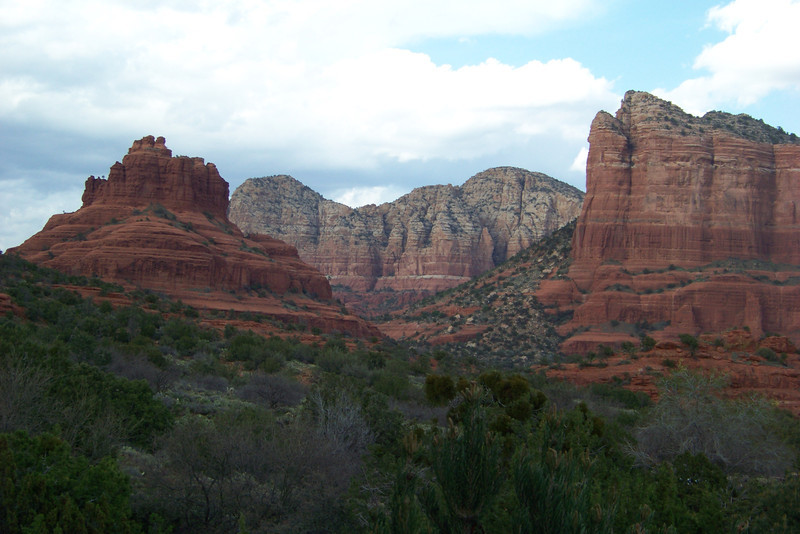 We can't resist a last shot of Bell Rock and Courthouse Butte from the Penrose.