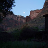 We enjoy the setting moon as we make our early morning latrine visits.