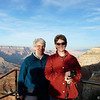 Sister Linda took this photo of us at Mather Point in the lengthening shadows.