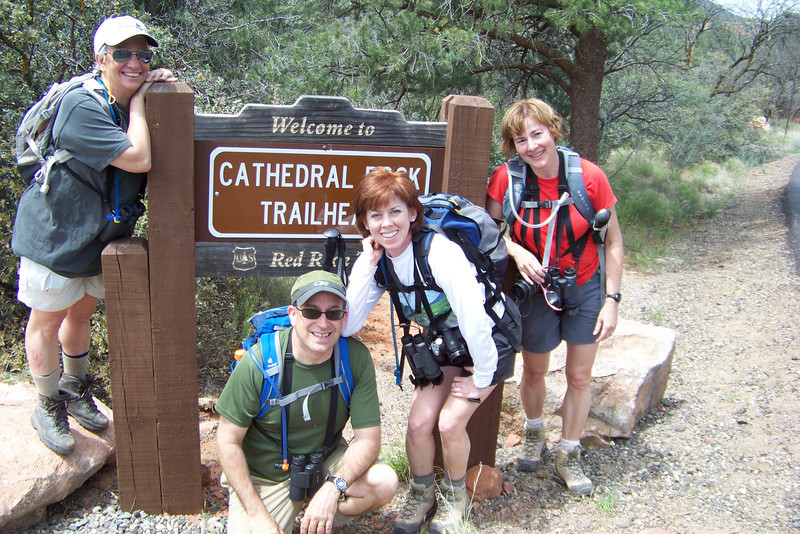 Upon a strong recommendation from Whitney, our B&B host, we set out to hike to Cathedral Rock, despite the map showing the elevation profile to be almost vertical.