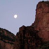 The moon over the canyon wall...