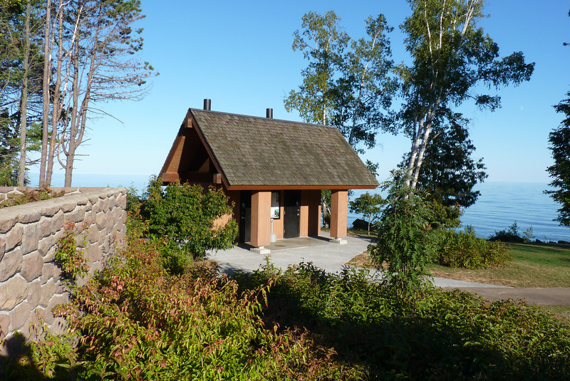 The nicely situated latrine just outside Grand Marais