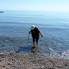 Jeane enjoys the cool, clear water of Lake Superior.