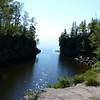 We eventually followed the gorge the other direction to where the Temperance River flows into Lake Superior.