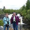 Patti and Jeane at Kawishiwi Falls