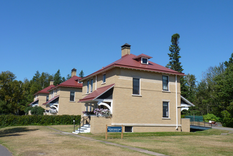 Some historic buildings, including the lighthouse keeper's residence.